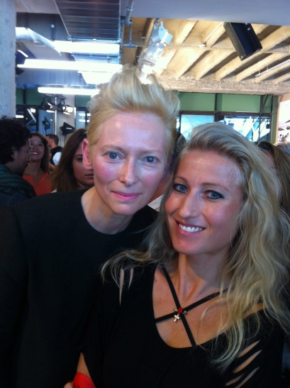 Fashion-Week mit Tilda Swinton. Foto: private