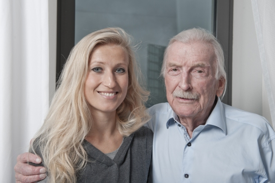 Interview mit der Jazzlegende James Last in Berlin. Foto: SI/Andre Kowalski