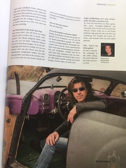 Roland Bless im Schall Magazin 2/2019